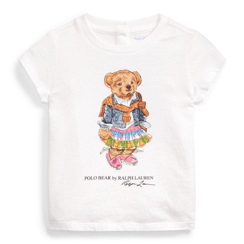 マドラスベア・コットン・半袖Tシャツ[ホワイト](女の子12〜24か月用)