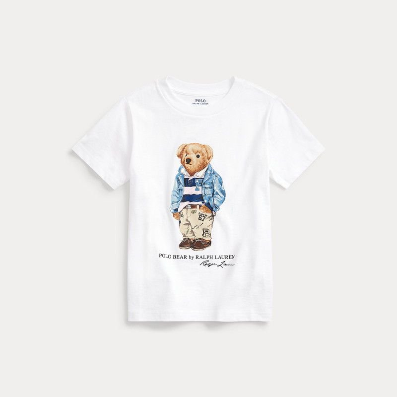 プレッピーベア・コットン・半袖Tシャツ[2色展開](男の子2〜7歳用)