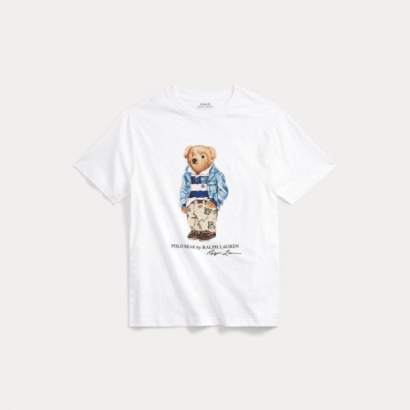 プレッピーベア・コットン・半袖Tシャツ[2色展開](ボーイズS〜XL)