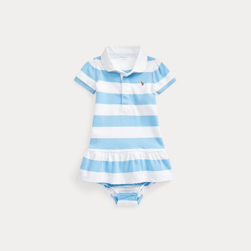 ストライプ・ラグビー・半袖ドレス[2色展開](女の子0〜24か月用)