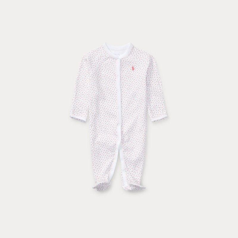 フローラル・コットン・カバーオール[ピンク](女の子0〜9か月用)
