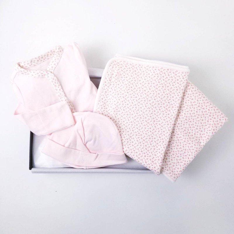 【ラッピング・送料無料】フローラル・3ピースギフトセット[フローラル](女の子6〜9か月用)