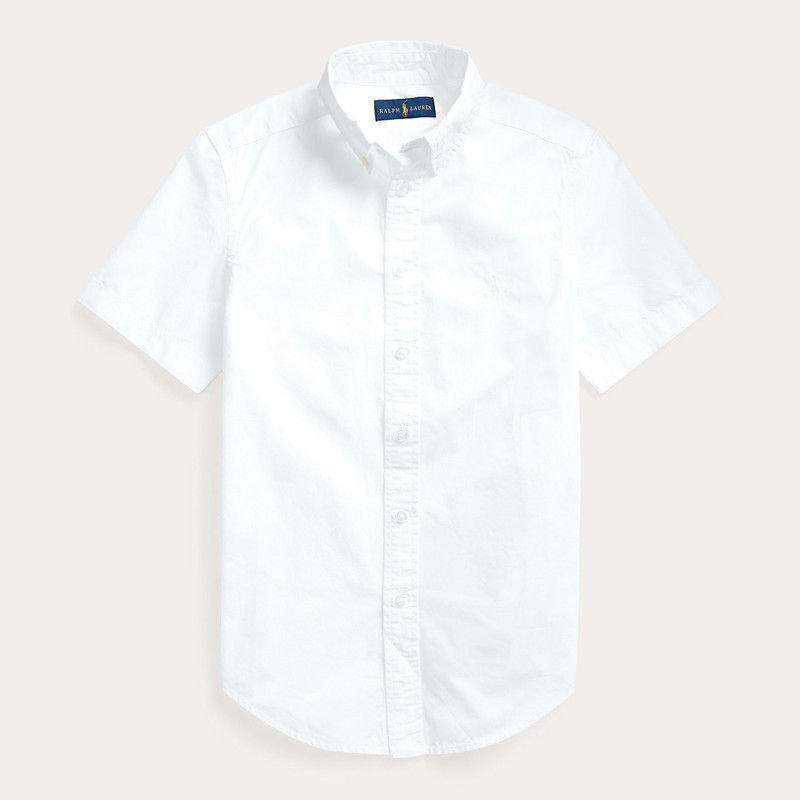 ガーメントダイ・コットン・半袖シャツ[3色展開](ボーイズS〜XL)
