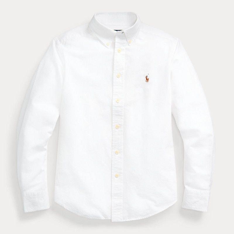 コットンブレンド・長袖シャツ[2色展開](男の子2〜7歳用)