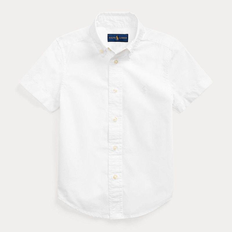 ガーメントダイ・コットン・半袖シャツ[3色展開](男の子2〜7歳用)