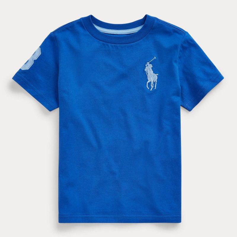 ビッグポニー・コットン・半袖Tシャツ[6色展開](男の子2〜7歳用)