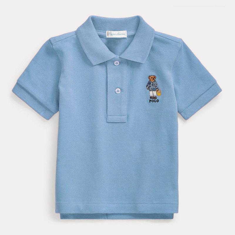 ビーチベア・コットン・半袖ポロシャツ[2色展開](男の子12〜24か月用)