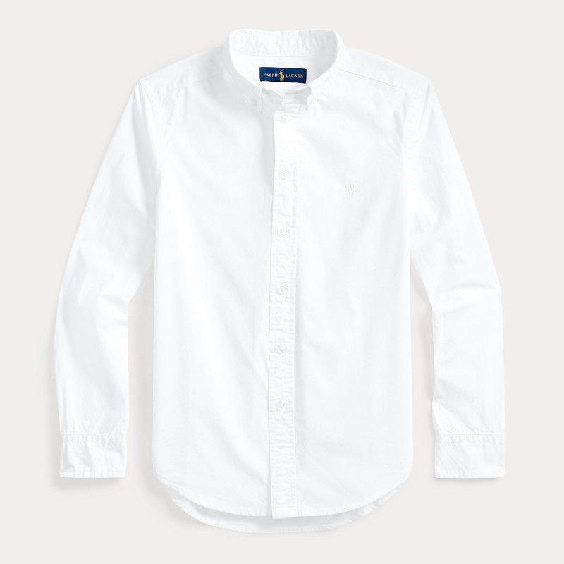 ガーメントダイ・コットン・長袖シャツ[4色展開](ボーイズS〜XL)