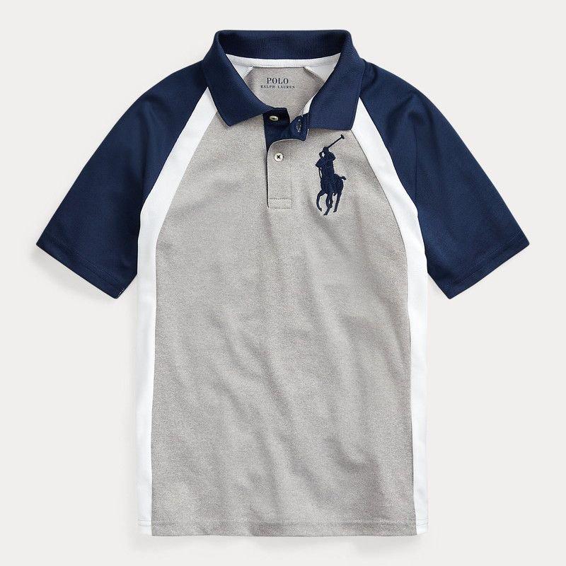 ビッグポニー・パフォーマンス・半袖ポロシャツ[グレー](ボーイズS〜XL)
