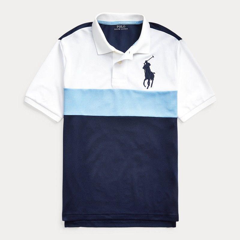 ビッグポニー・パフォーマンス・半袖ポロシャツ[ネイビー](ボーイズS〜XL)