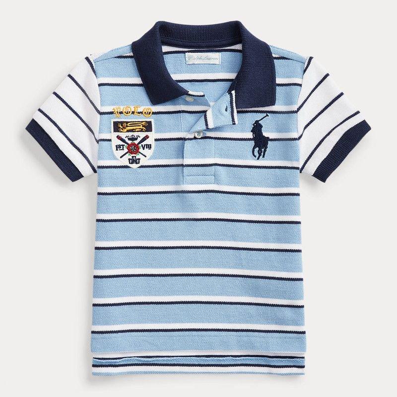 ビッグポニー・ストライプ・半袖ポロシャツ[2色展開] (男の子12〜24か月用)