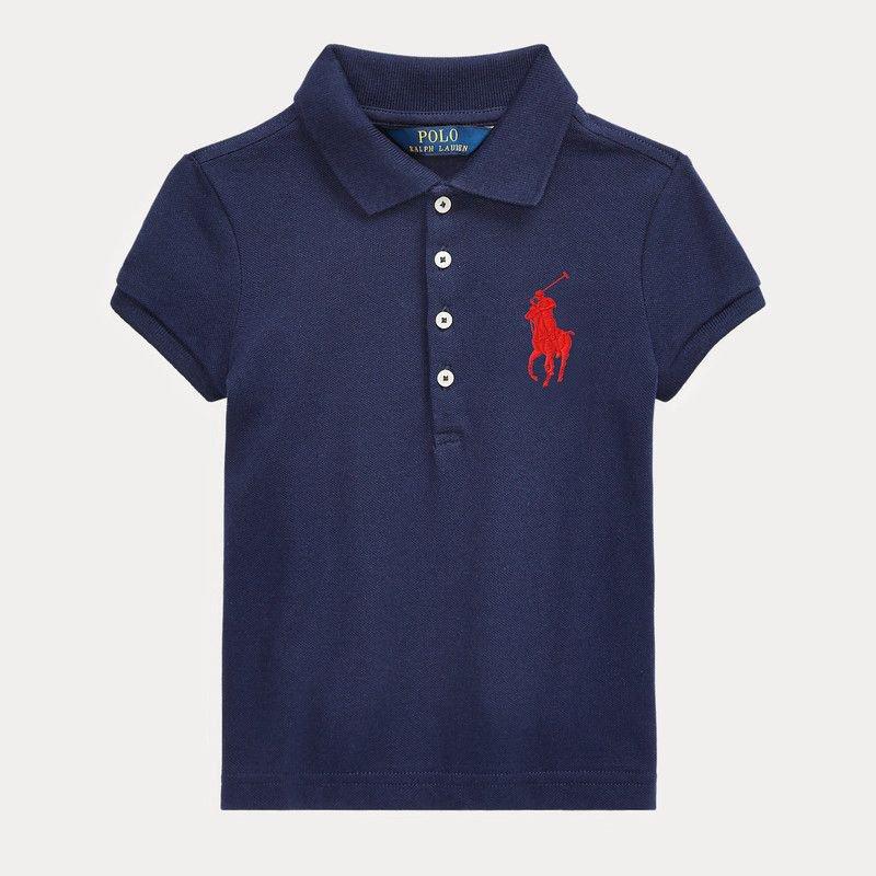 ビッグポニー・ストレッチメッシュ・半袖ポロシャツ[2色展開] (ガールズS〜XL)