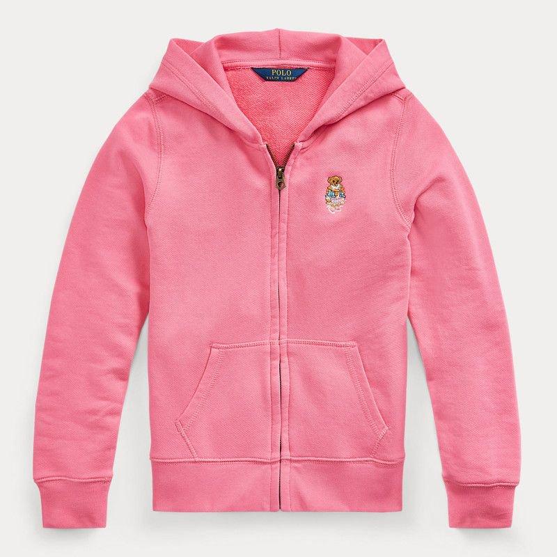 マドラスベア・テリー・フルジップパーカー[ピンク] (ガールズS〜XL)