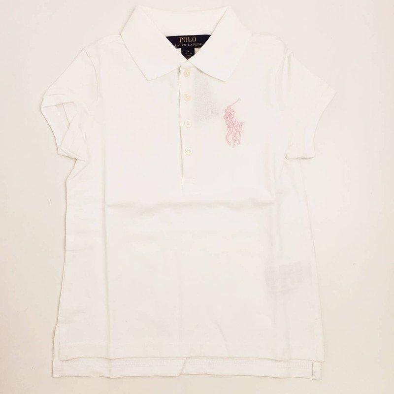 ビッグポニー・ストレッチメッシュ・半袖ポロシャツ[2色展開] (女の子2〜7歳用)