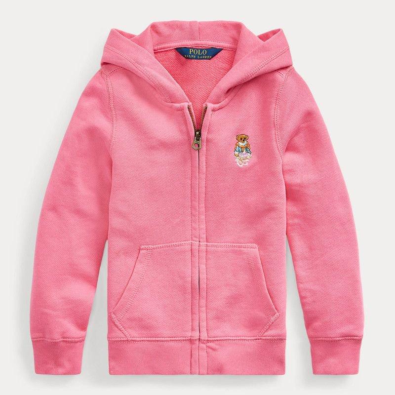 マドラスベア・テリー・フルジップパーカー[ピンク](女の子2〜7歳用)