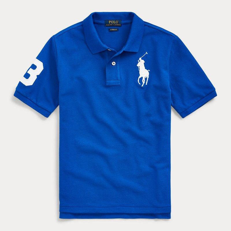 ビッグポニー・コットンメッシュ・半袖ポロシャツ[5色展開] (ボーイズS〜XL)