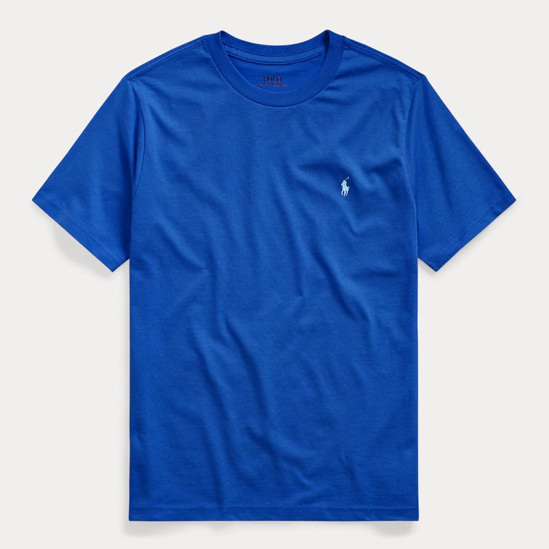 コットン・クルーネック・半袖Tシャツ[5色展開] (ボーイズS〜XL)