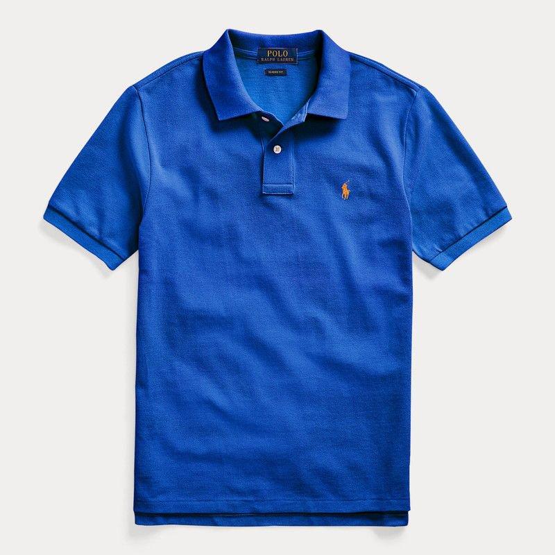 コットンメッシュ・半袖ポロシャツ[5色展開] (ボーイズS〜XL)