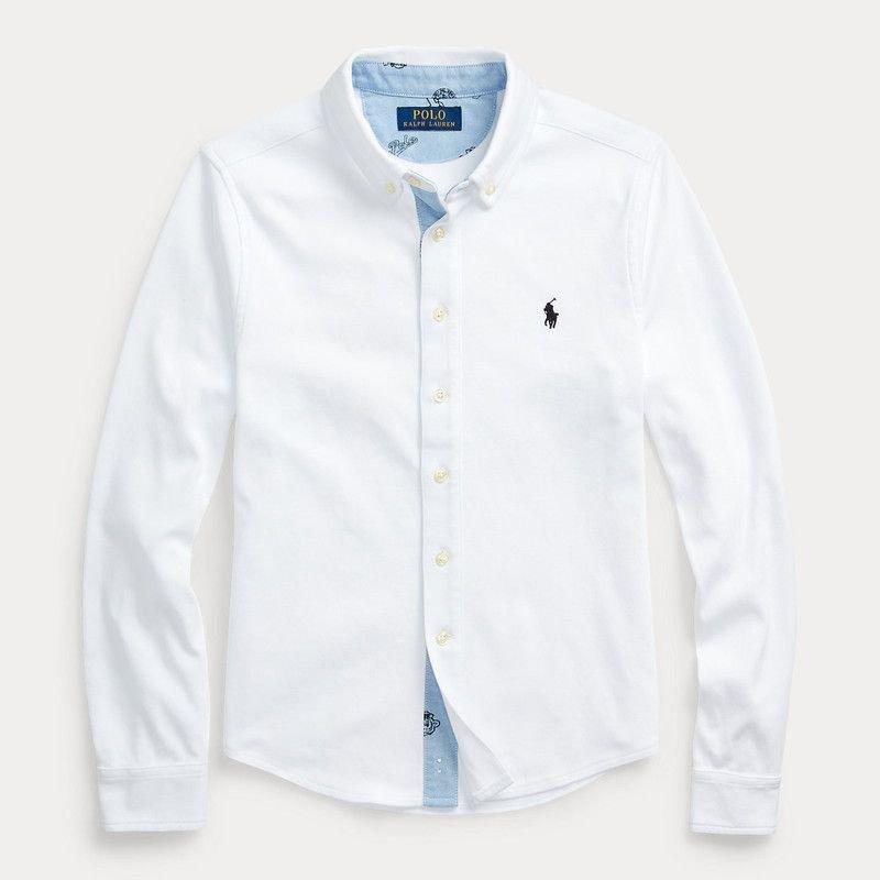 コットン・インターロック・長袖シャツ[2色展開] (ボーイズS〜XL)