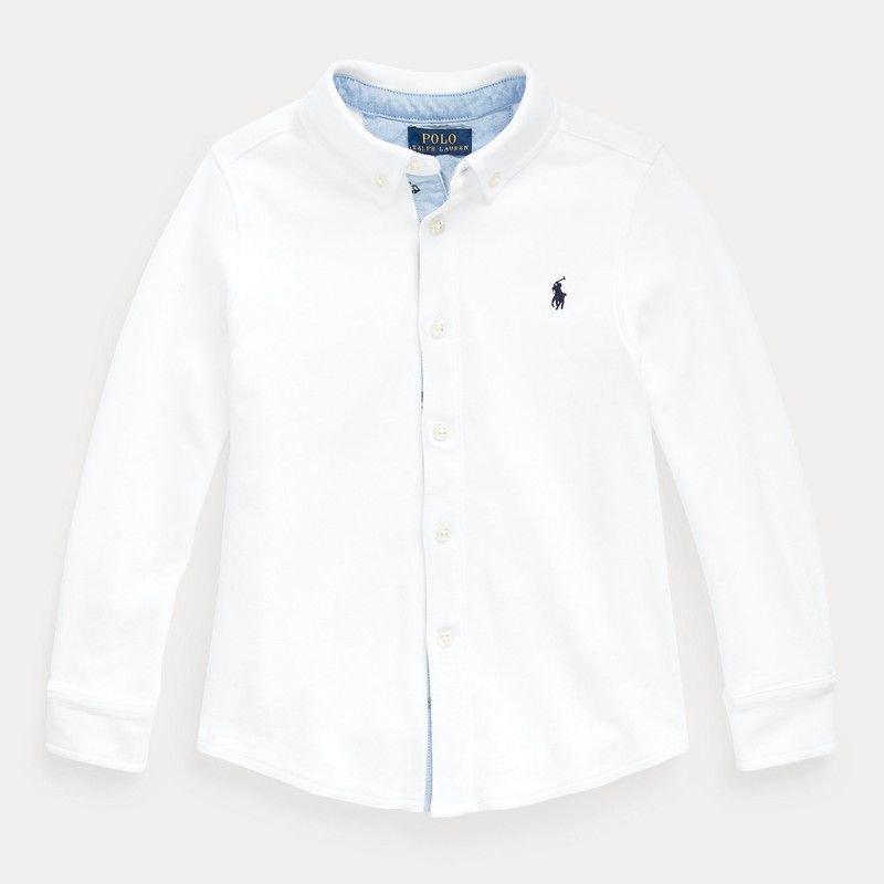 コットン・インターロック・長袖シャツ[2色展開] (男の子2〜7歳用)