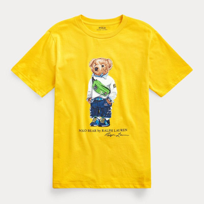 ファニーパックベア・コットン・半袖Tシャツ[イエロー](ボーイズS〜XL)