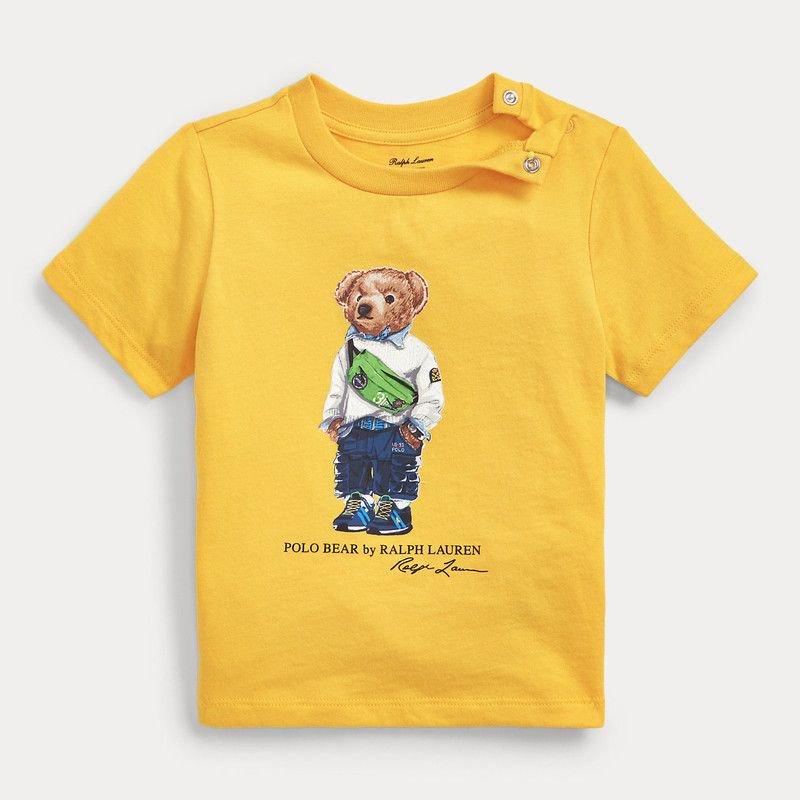 <img class='new_mark_img1' src='https://img.shop-pro.jp/img/new/icons15.gif' style='border:none;display:inline;margin:0px;padding:0px;width:auto;' />ファニーパックベア・コットン・半袖Tシャツ[イエロー](男の子12〜24か月用)