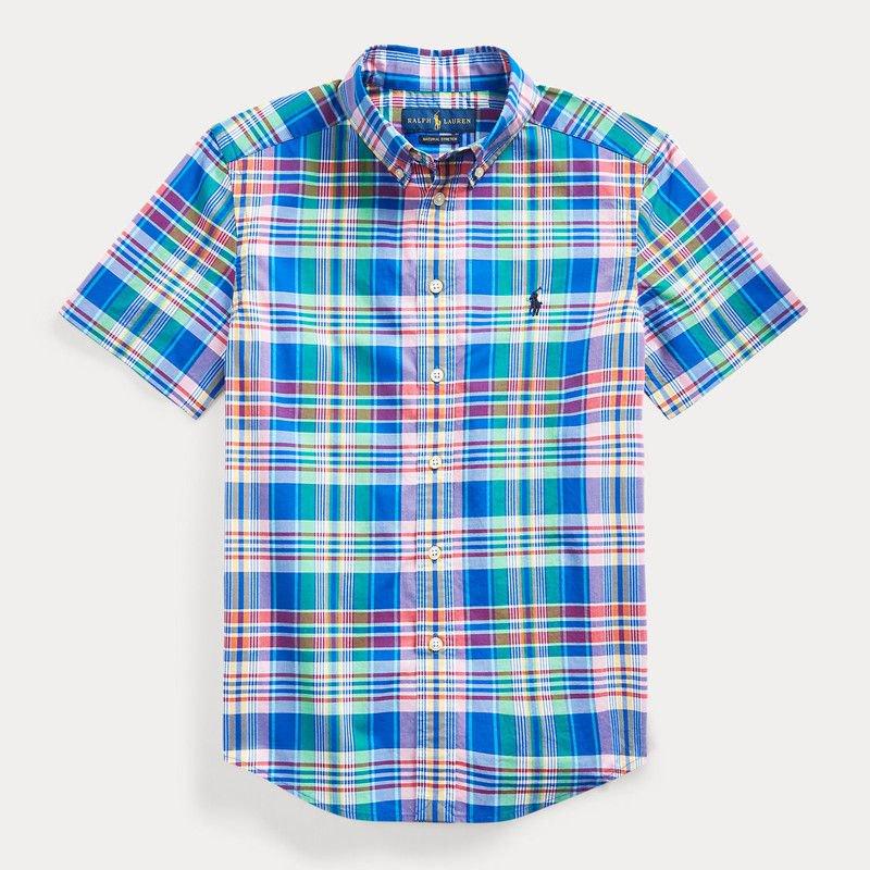 コットン・ポプリン・半袖シャツ[2色展開] (ボーイズS〜XL)