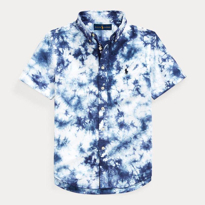 タイダイ・コットン・半袖シャツ[ネイビー] (ボーイズS〜XL)