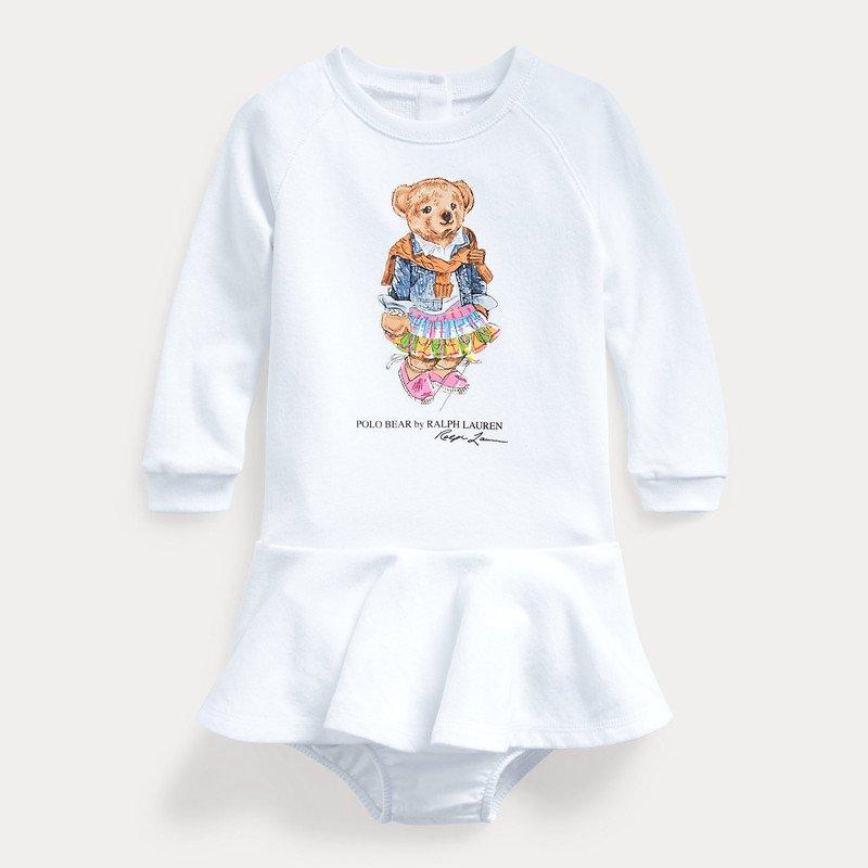 マドラスベア・長袖ドレス[ホワイト](女の子12〜24か月用)