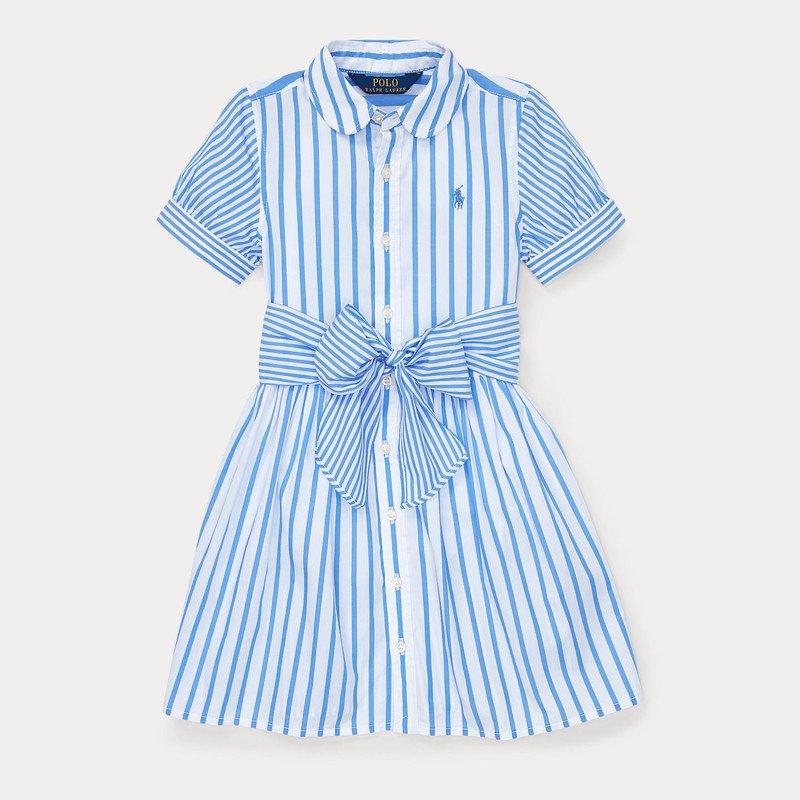 プレイド・コットンツイル・半袖シャツドレス[2色展開](女の子2〜7歳用)