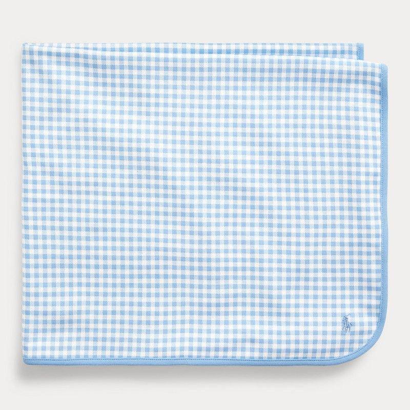 ギンガム・インターロック・ブランケット[ライトブルー](男の子0〜9ヶ月用)
