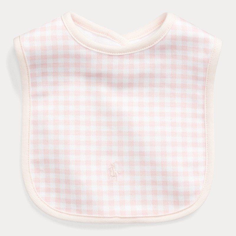 ギンガム・インターロック・スタイ[ピンク](女の子0〜9ヶ月用)