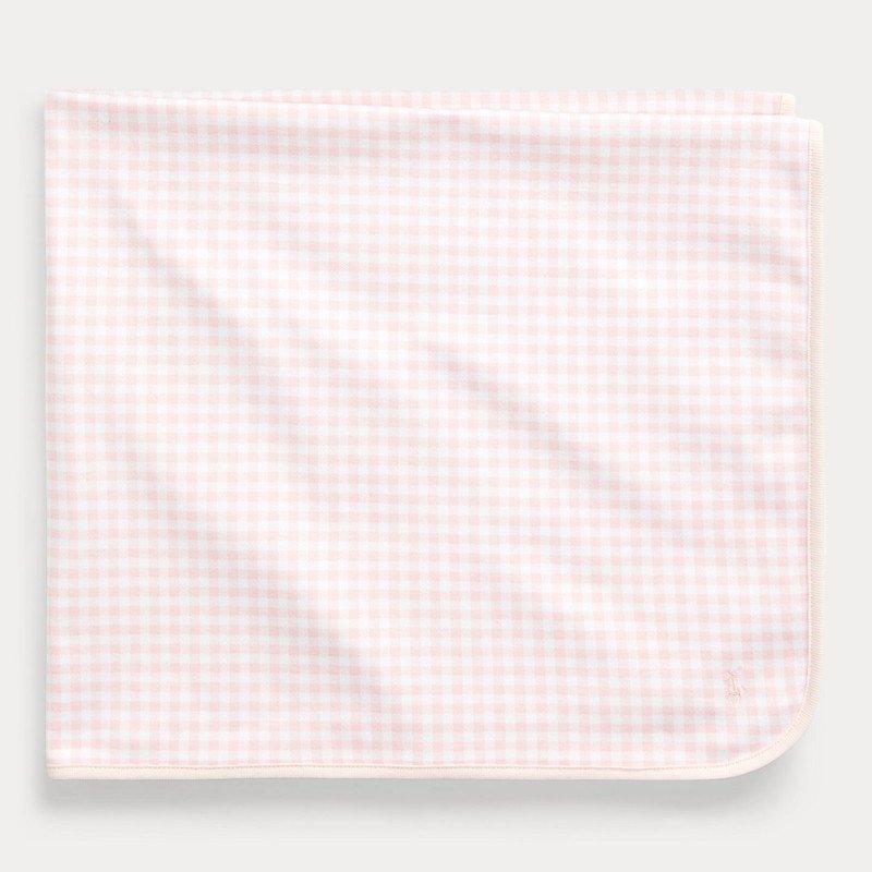 ギンガム・インターロック・ブランケット[ピンク](女の子0〜9ヶ月用)