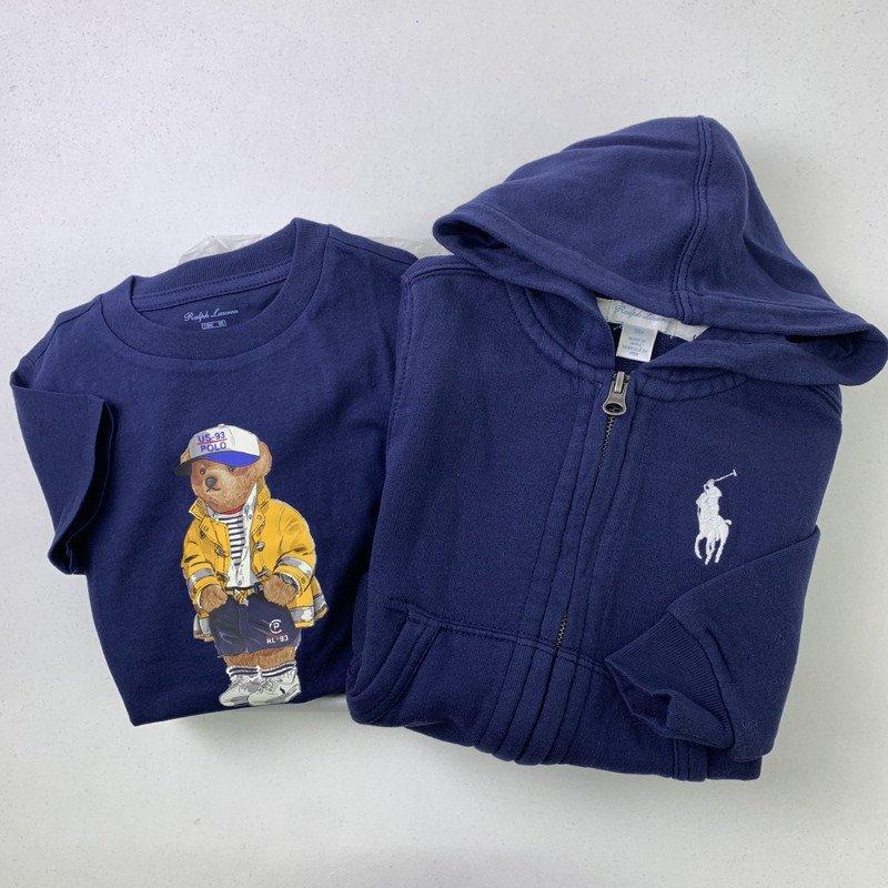 【ラッピング・送料無料】ポロベア&ビッグポニー・半袖Tシャツ・2ピースギフトセット[ネイビー] (男の子12〜24か月用)