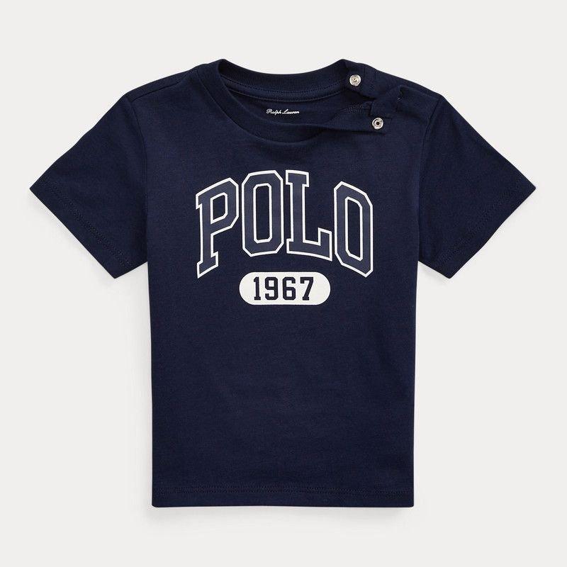 <img class='new_mark_img1' src='https://img.shop-pro.jp/img/new/icons15.gif' style='border:none;display:inline;margin:0px;padding:0px;width:auto;' />ロゴ入り・コットン・半袖Tシャツ[2色展開]  (男の子12〜24か月用)