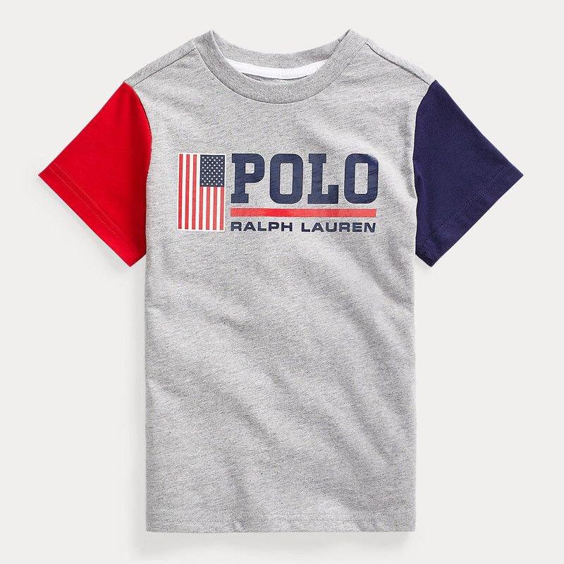 コットン・グラフィック・半袖Tシャツ[グレー] (男の子2〜7歳用)