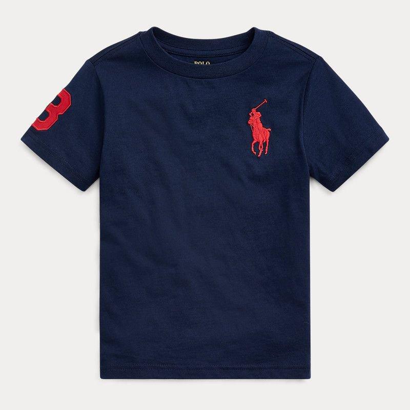 ビッグポニー・コットン・半袖Tシャツ[2色展開] (男の子2〜7歳用)