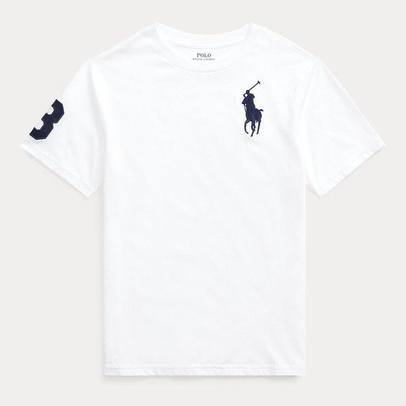 ビッグポニー・コットン・半袖Tシャツ[2色展開] (ボーイズS〜XL)