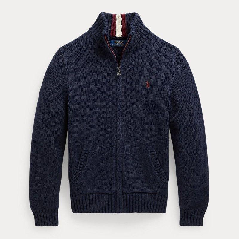 コットン・フルジップ・セーター [2色展開](ボーイズS〜XL)