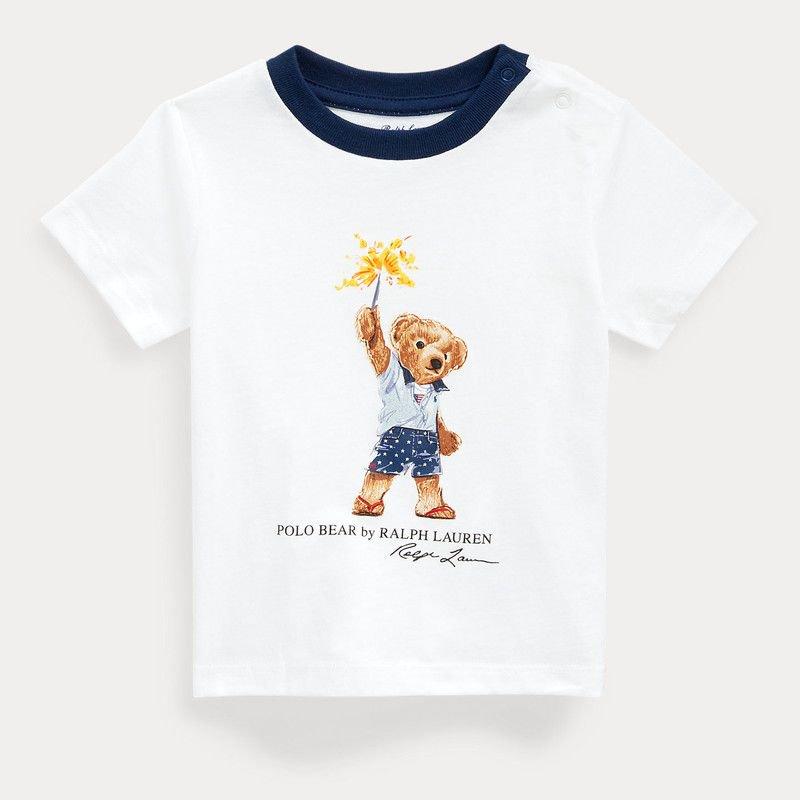 スパークラーベア・コットン・半袖Tシャツ[ホワイト] (男の子12〜24か月用)