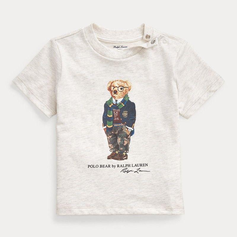 プレッピーベア・コットン・半袖Tシャツ[アメリカンヘザー]  (男の子12〜24か月用)