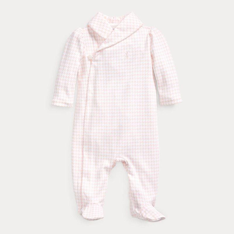 コットン・インターロック・カバーオール[ピンク](女の子0〜24か月用)