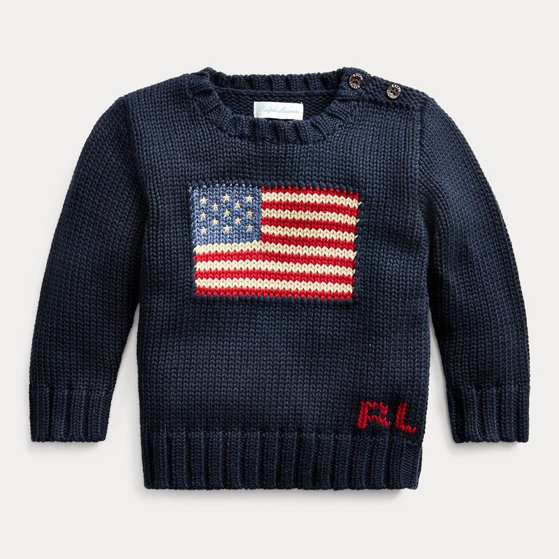 アメリカンフラッグ・コットン・セーター[2色展開] (男の子12〜24か月用)