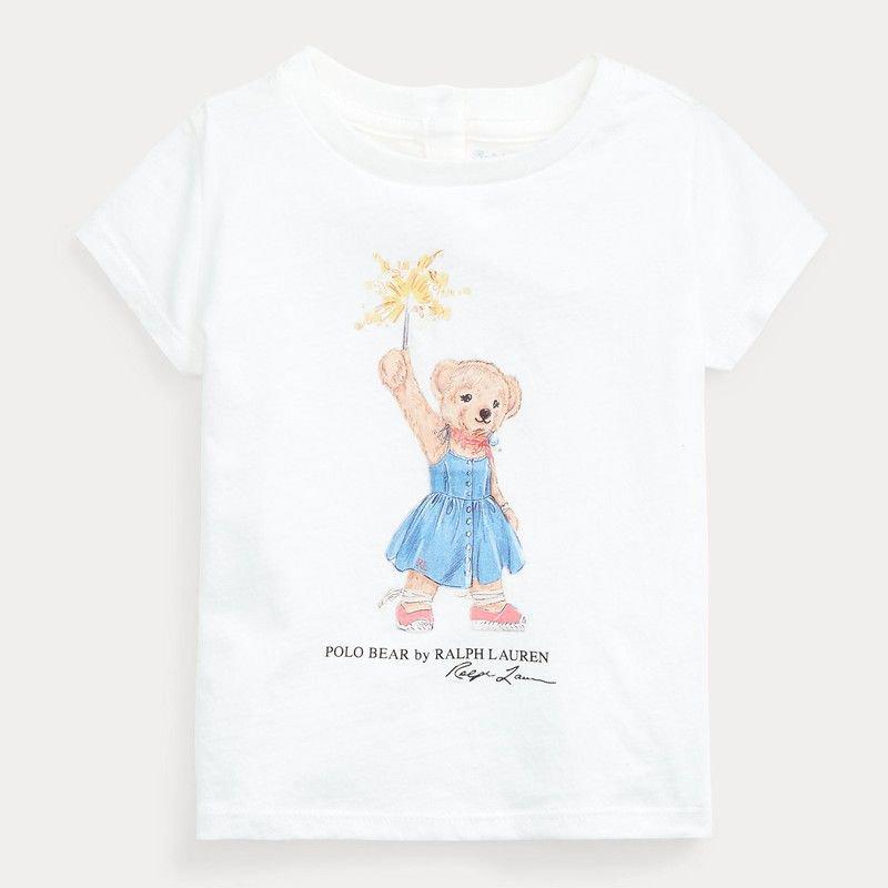 <img class='new_mark_img1' src='https://img.shop-pro.jp/img/new/icons15.gif' style='border:none;display:inline;margin:0px;padding:0px;width:auto;' />スパークラーベア・コットン・半袖Tシャツ[ホワイト](女の子12〜24か月用)