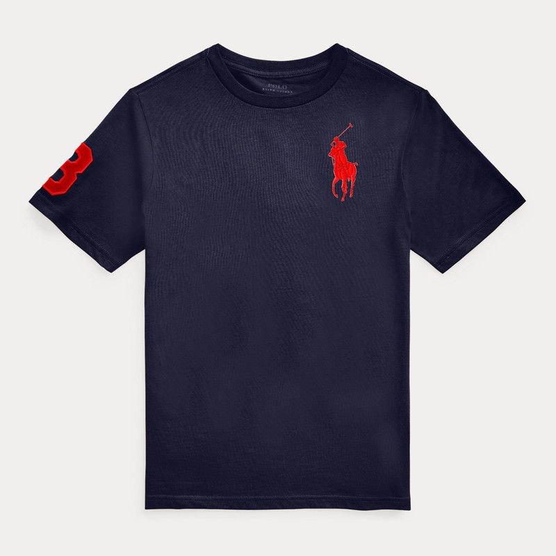 ビッグポニー・コットン・半袖Tシャツ[3色展開] (ボーイズS〜XL)