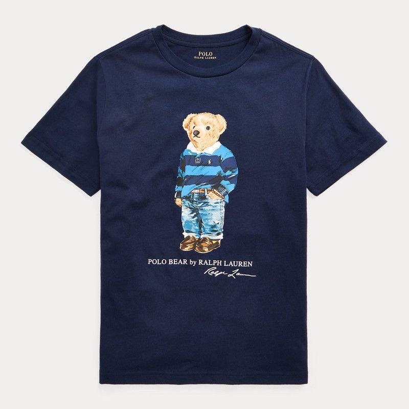 ポロベア・コットン・半袖Tシャツ[ネイビー] (ボーイズS〜XL)