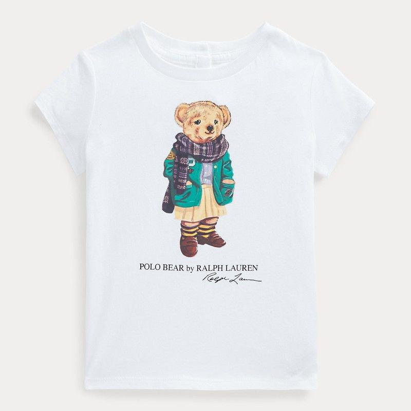 ポロベア・半袖Tシャツ[ホワイト](女の子12〜24か月用)