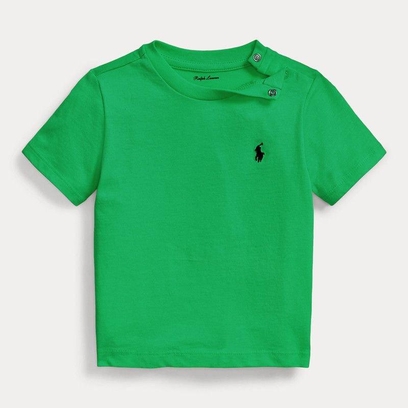 <img class='new_mark_img1' src='https://img.shop-pro.jp/img/new/icons16.gif' style='border:none;display:inline;margin:0px;padding:0px;width:auto;' />わけあり特価品 コットン・クルーネック・半袖Tシャツ[グリーン] (男の子18か月用)