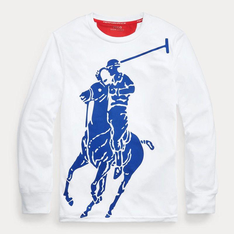 ビッグポニー・パフォーマンス・長袖Tシャツ[2色展開] (ボーイズS〜XL)