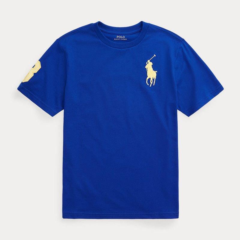 <img class='new_mark_img1' src='https://img.shop-pro.jp/img/new/icons15.gif' style='border:none;display:inline;margin:0px;padding:0px;width:auto;' />ビッグポニー・コットン・半袖Tシャツ[2色展開] (男の子2〜7歳用)